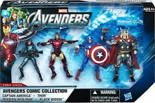 AVENGERS COMIC COLLECTION ( WALMART ONLY ) MARVEL MOVIE ACTION FIGURE ( SET #1 )