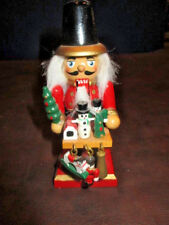 """USECH.145t: VINTAGE SMALL HAND MADE """"SELLING CHRISTMAS"""" NUTCRACKER - GERMANY"""