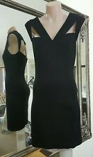 NWOTS Bettina Liano dress.Sz8.Stretch jersey little black cocktail dress.