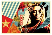 Shepard Fairey - Welcome Visitor Diptych - Obey Giant - S/N - 2017 - 2 Print Set