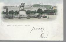 Lyon La Place Bellecour - 1901 Unposted Postcard Undivided Back