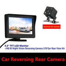 """IR Auto Telecamera Retromarcia 170° HD Visione Notturna con 4.3"""" LCD Monitor"""