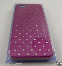For Iphone 5 i phone case metallic pink fuscia crystal bling Claires