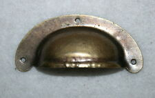 Muschelgriff,Schlüsselschilder,Modell Kiel, Messing,Apothekerschrank Größe klein