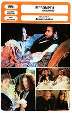 FICHE CINEMA : IMPROMPTU - Davis,Grant,Sands,Thompson,Lapine 1991