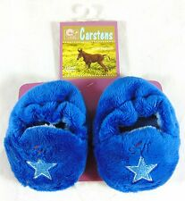 Baby BOYS BOOTIES Size 0-3 Months Carsten's Lil Bronc Blue