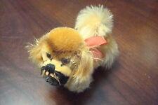 Small Steiff dog POKI mohair  with tag[*8]