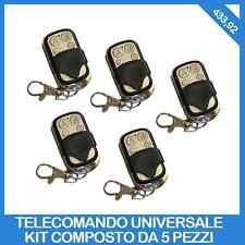5 TELECOMANDI UNIVERSALI 4 CANALI TELECOMANDO UNIVERSALE PROGRAMMABILE 433MHZ