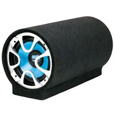 "NEW 8"" Powered Bass Tube Subwoofer Speaker.Enclosed Active Sub.Amplified 8inch."