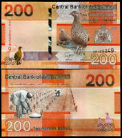 GAMBIA 200 DALASIS 2019 P NEW DESIGN FARMER BIRD UNC