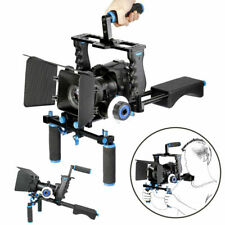 YELANGU DSLR Camera Stabilizer Cage Top Handle Follow Focus Rod Shoulder Rig Kit