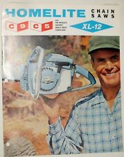 Vintage Homelite Brochure ChainSaw C9 C5 XL-12 Chain Saw  Original