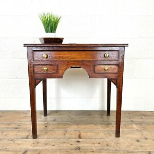 Early 19th Century Oak Side Table or Lowboy (M-2698) - FREE DELIVERY*