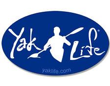 3x5 inch OVAL Blue YAK LIFE Sticker -licensed decal kayak water kayaking kayaker