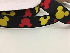 25mm Mickey Mouse Single Side Grosgrain Ribbon Craft Cake Decoration Bow 1 Meter