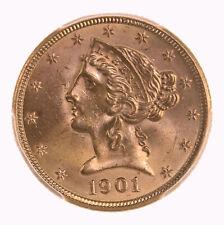 1901 Liberty $5 PCGS Certified MS64+