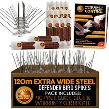DEFENDER EXTRA WIDE ACCIAIO Bird Punte & PIGEON Spikes | 120m | Colla | Bird Guide