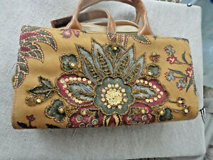 ISABELLA FIORE Makeup Bag travel organizer mini tote never used SO GORGEOUS NWOT
