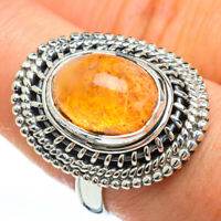 Mexican Fire Opal 925 Sterling Silver Ring Size 8.5 Ana Co Jewelry R45142F