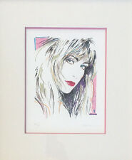 RARE! HAND-SIGNED D'LEE SERIGRAPH by Patrick Nagel Student Dennis Mukai - 43/95