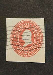 Rjkstamps US Scott W366, Washington 2 Cent Cut Square, Used