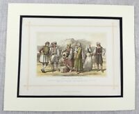 1882 Antique Print Greek People Hellenes Pelagasi Greece Hydra Ethnic Race