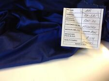 "Beautiful Royal Blue Colour 100% silk Dupion  Fabric 48"" 123cm For 0.5 1/5 Metre"