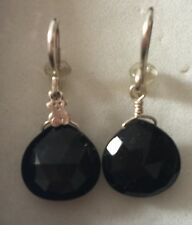 Tous Lady's Earrings Silver  Black Onyx Authentic