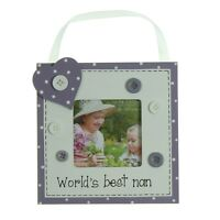 "Worlds Best Nan 3"" x 3"" Wooden Photo Frame Gift By Juliana Gifts"