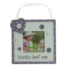 "Worlds Best Nan 3"" x 3"" Wooden Photo Frame Gift By Juliana Gifts"