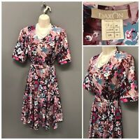 Daxon Multicoloured Floral Dress UK 16 EUR 44 US 12