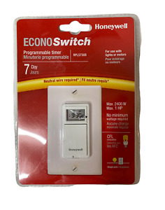 NEW Honeywell EconoSwitch RPLS730B 7-Day Programmable Light Switch Timer