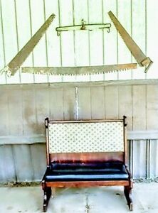 Vintage Mahogany Double Bench Seat 43x42x20 (Height, Length, Width). Very sturdy