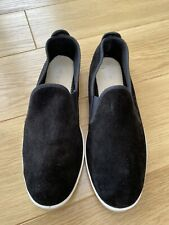 Flossy Black Suede Shoes UK 8/8.5