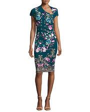 New Roberto Cavalli Asymmetric Floral-Print Sheath Dress Size 42 NWT