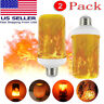 2 Pack LED Flame Effect Simulated Flicker Nature Fire Bulbs Light Decor E27 Lamp
