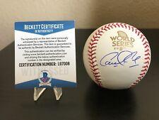 Houston Astros Carlos Correa MLB World Series Baseball with Beckett COA