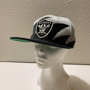 Vintage NFL Oakland Raiders Sharktooth Snapback Baseball Cap Hat Mitchell & Ness