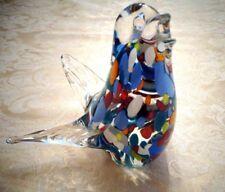 Art Glass Bird Paperweight By Hoganas Kristall Glasbruk