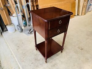 Beautiful Bombay Company Cherry Wood Accent Side End Table W/ Drawers L@@K