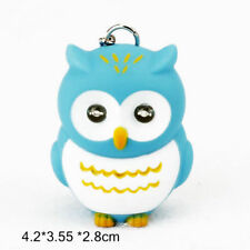 Blue LED Owl Key Rings Hooting Sound Handbag Key Cings Purse Pendant Keyring