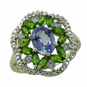 Tanzanite Gemstone Jewelry Yellow Color 925 Sterling Silver Ring
