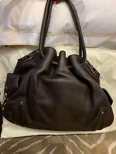 Cole Haan Black Leather Bucket-Style Large Black Pocketbook with dust bag