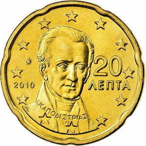 [#700064] Grèce, 20 Euro Cent, 2010, SUP, Laiton, KM:212