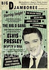 Elvis Presley Scotty and Bill Rockabilly Print / Poster A3 suitable for framing