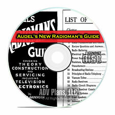 Audel's New Radioman's Guide, How To Repair Tube Radios, OTR, PDF CD DVD E29
