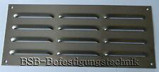 1 St. Lüftungsgitter 290 x 125mm Edelstahl A2 gebürstet Kiemenblech Abluftgitter