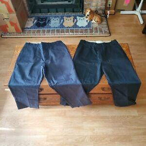 Sears Roebucks Perma Prest Full Fit Pants W34 L28 Blue Vintage Made in USA