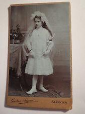 St. Pölten - Jani Wieninger ? als Mädchen bei der Kommunion - Portrait / CDV
