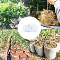 100x biologisch abbaubare Vlies-Pflanzgefäß-Pflanzgefäß-Blumentöpfe Y5M6